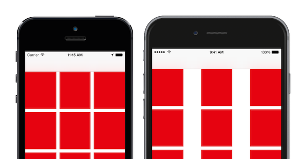 UICollectionView layouts on wide iPhones